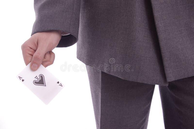 Homme d'affaires avec un as photographie stock
