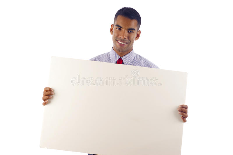 Homme d'affaires avec un drapeau photo stock