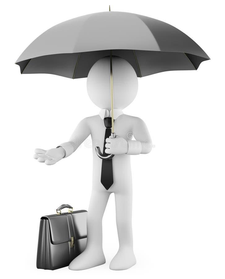 Homme d'affaires avec un parapluie illustration de vecteur