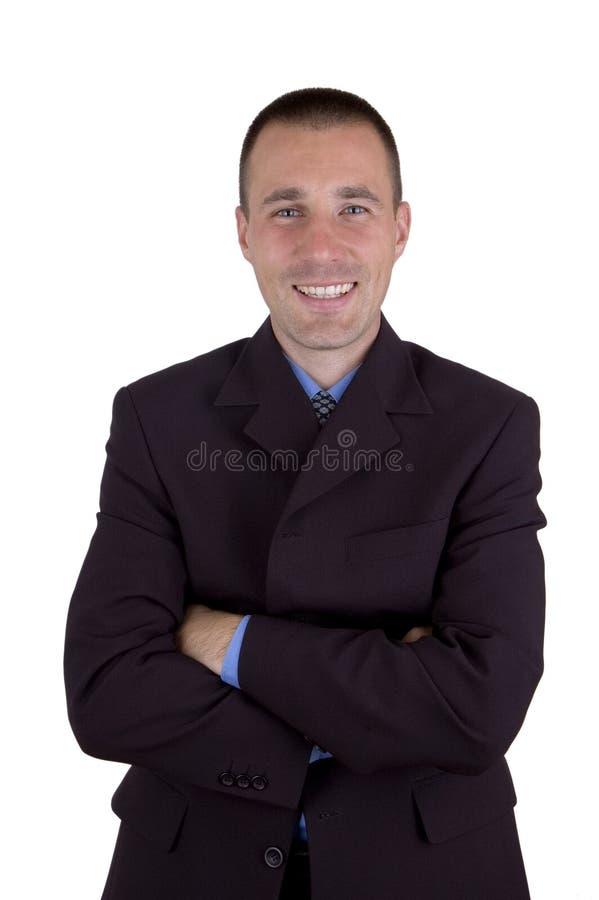 Homme d'affaires avec un sourire image stock