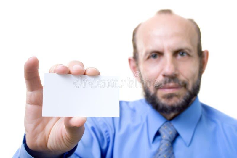Homme d'affaires avec une carte vide photos stock