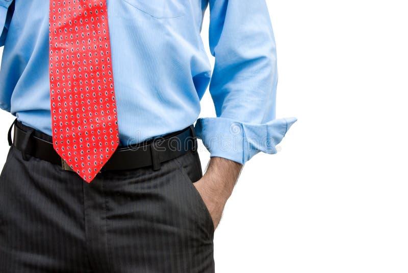 Homme d'affaires avec une main dans sa poche photos stock