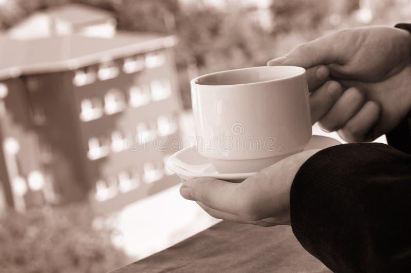 Homme d'affaires ayant une pause-café photos libres de droits