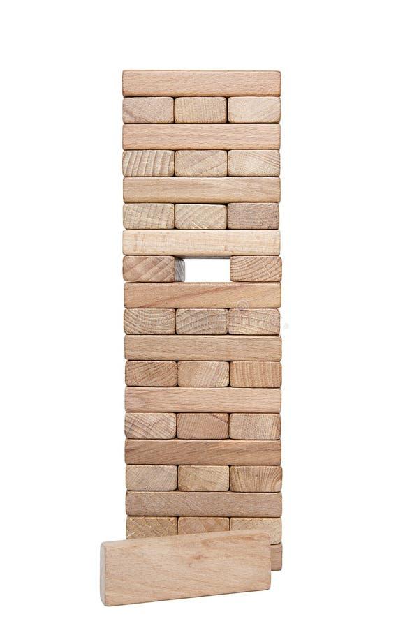 Homme d'affaires, bâtiment, concept de marque avec les blocs en bois photographie stock libre de droits