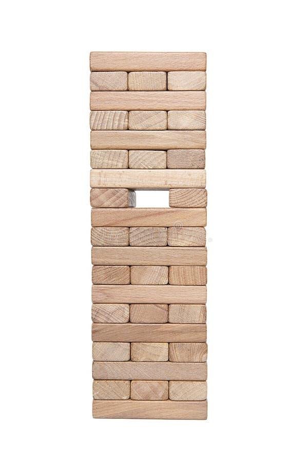 Homme d'affaires, bâtiment, concept de marque avec les blocs en bois image libre de droits