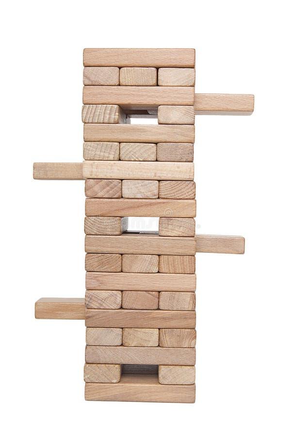 Homme d'affaires, bâtiment, concept de marque avec les blocs en bois image stock