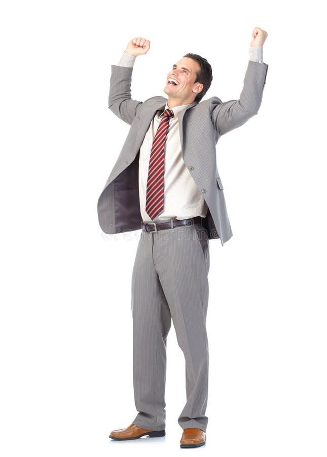 Homme d'affaires bel heureux images stock