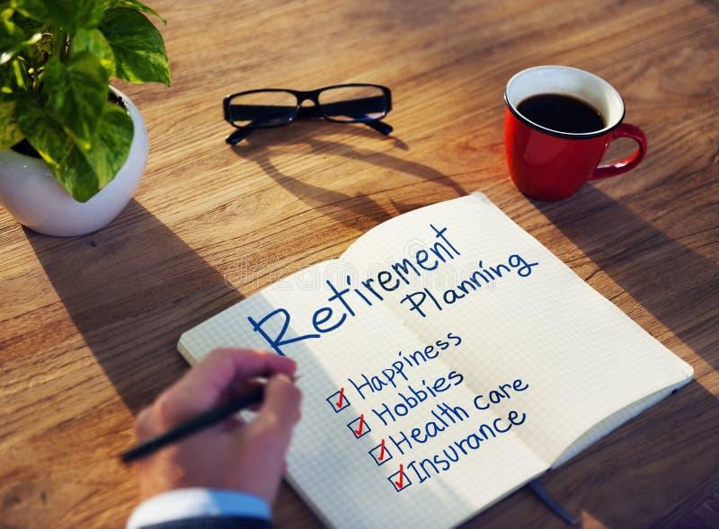 Homme d'affaires Brainstorming avec la planification de la retraite photo libre de droits