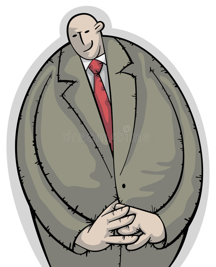 Homme d'affaires calme et timide illustration libre de droits
