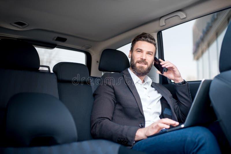 Homme d'affaires In The Car photos libres de droits