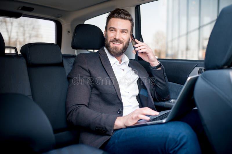 Homme d'affaires In The Car images libres de droits