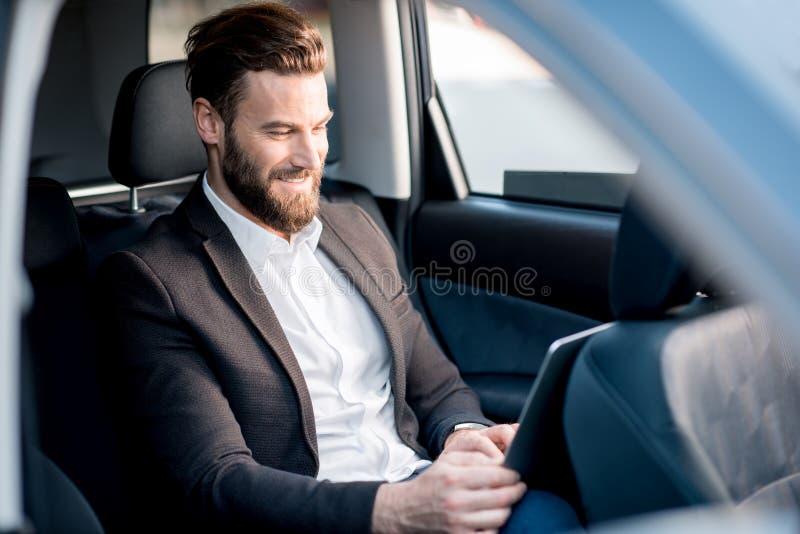 Homme d'affaires In The Car photographie stock libre de droits