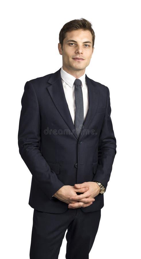 Homme d'affaires caucasien d'isolement photos stock
