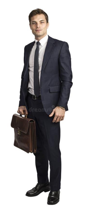Homme d'affaires caucasien d'isolement photo stock