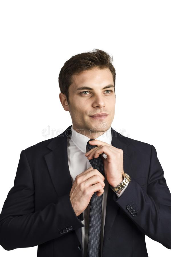 Homme d'affaires caucasien d'isolement image libre de droits