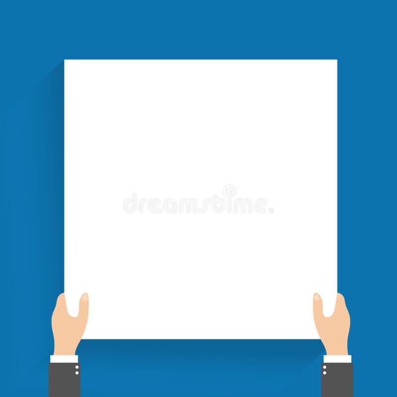 homme d 39 affaires chez l 39 homme de costume tenant la banni re vide vecteur illustration de. Black Bedroom Furniture Sets. Home Design Ideas
