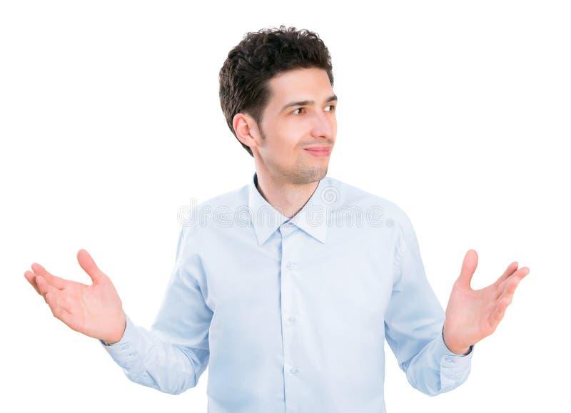 Homme d'affaires confus image stock