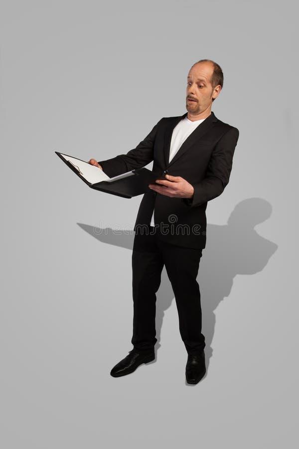 Homme d'affaires confus images stock