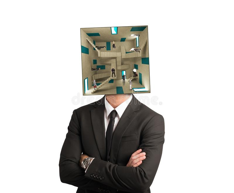 Homme d'affaires confus photo stock