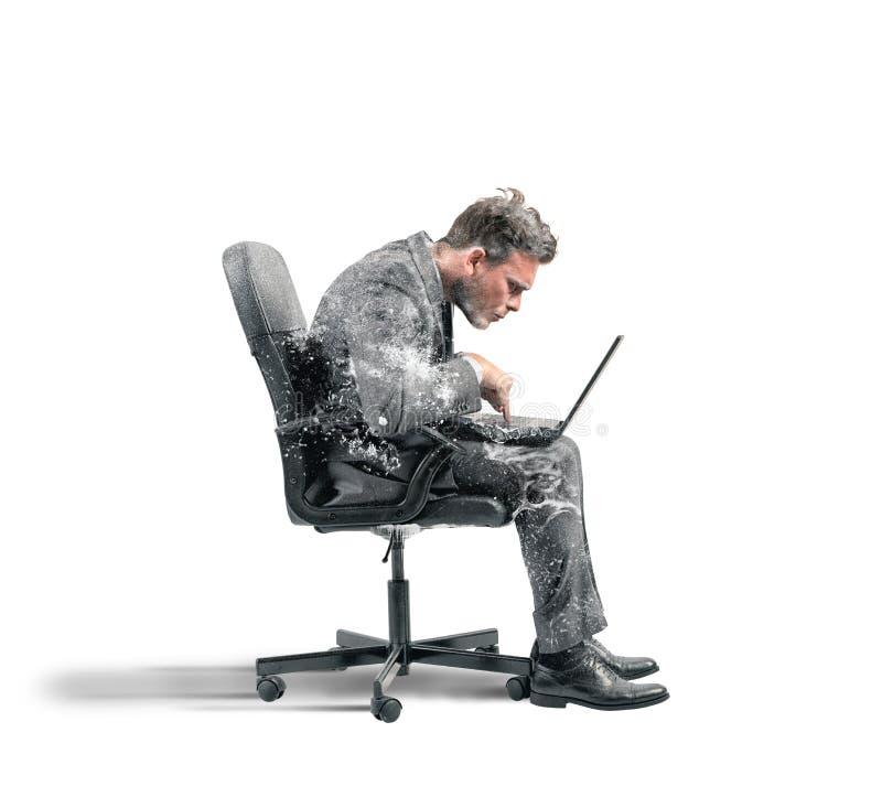 Homme d'affaires congelé photos libres de droits