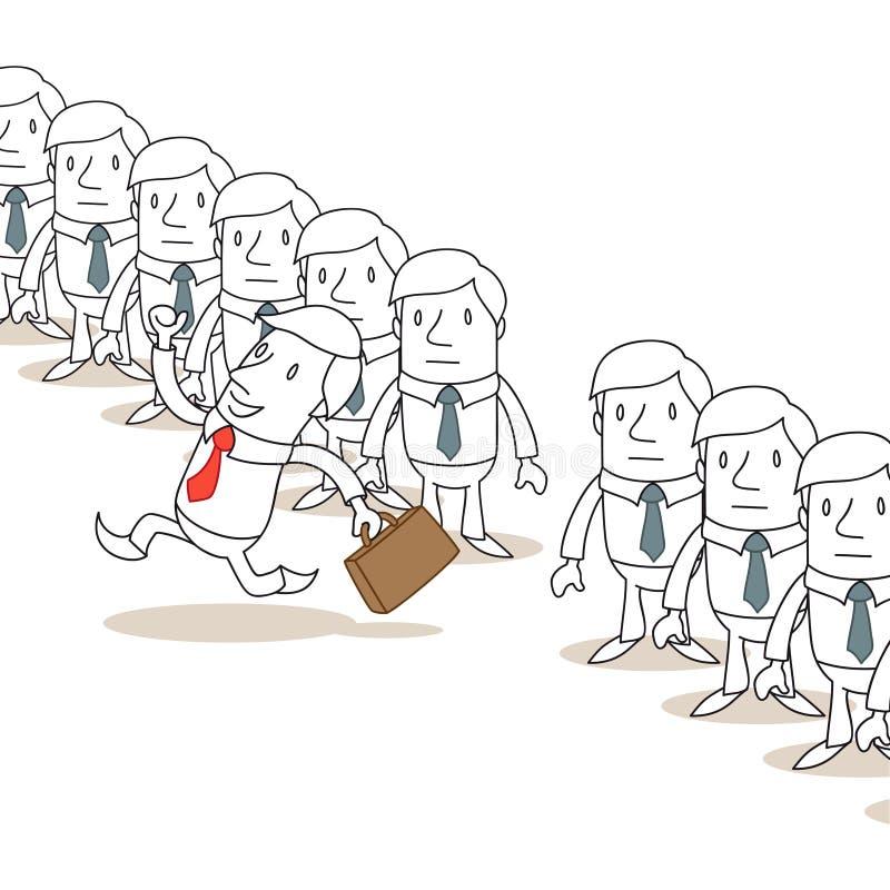 Homme d'affaires courant à partir de la ligne homogène de  illustration libre de droits