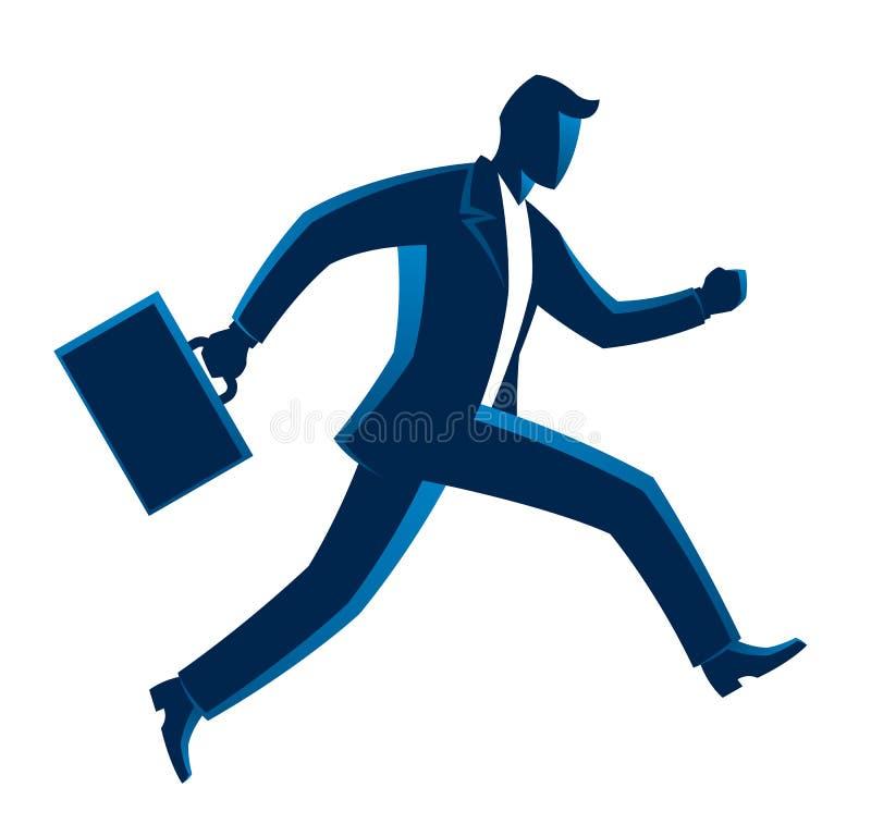 Homme d'affaires courant illustration de vecteur