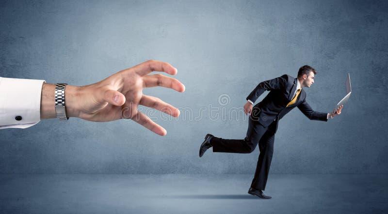 Homme d'affaires courant de la main photo libre de droits