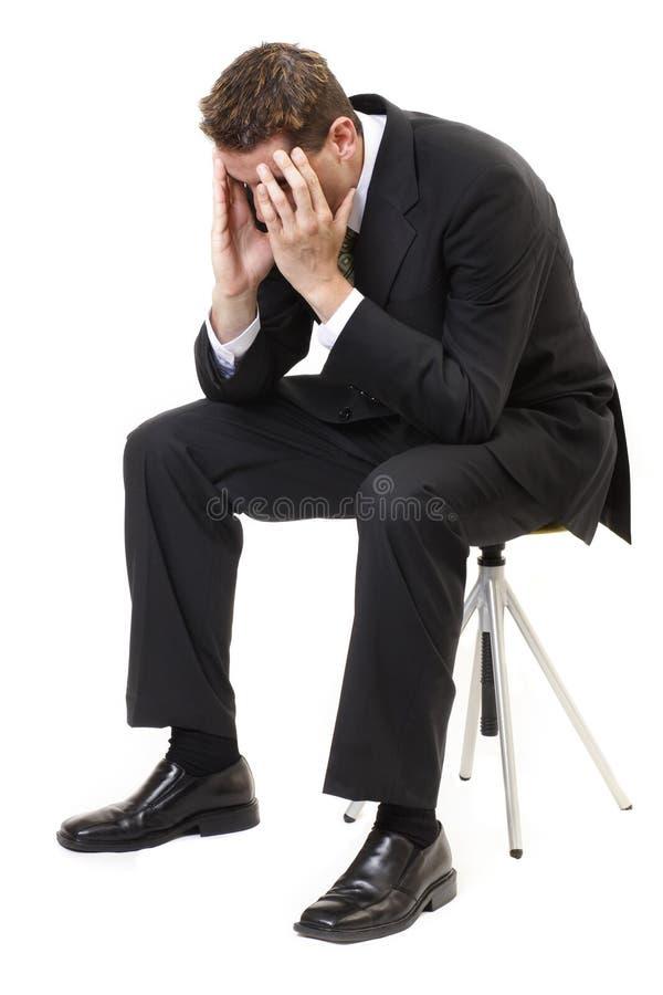 Homme d'affaires déprimé photographie stock