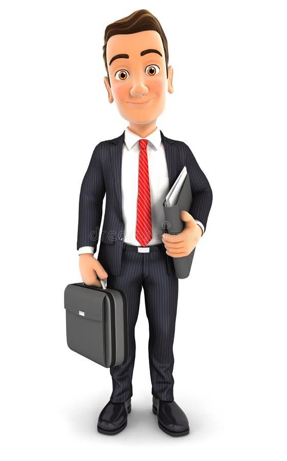 homme d'affaires 3D illustration libre de droits