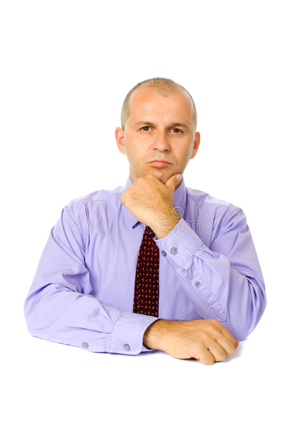 Homme d'affaires d'isolement sur le blanc image stock