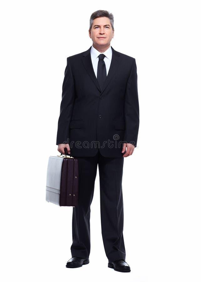 Homme d'affaires d'isolement sur le blanc. photos stock