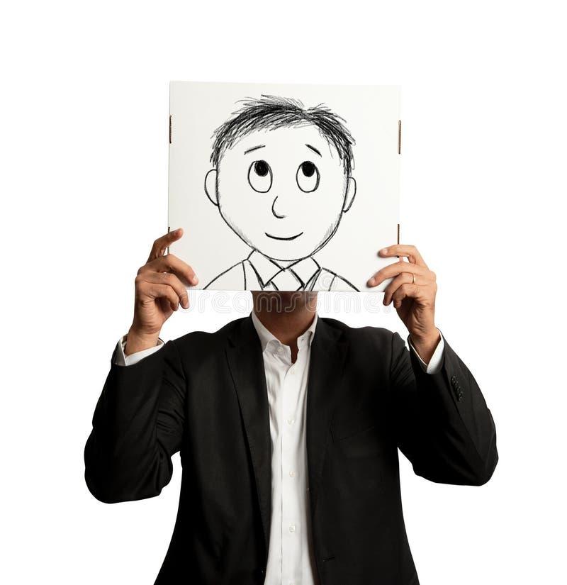 Homme d'affaires d'Optmist photo stock