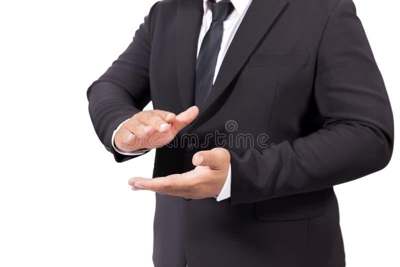 Homme d'affaires dans des mains de applaudissement d'un costume image libre de droits