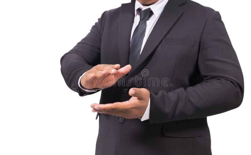Homme d'affaires dans des mains de applaudissement d'un costume images stock