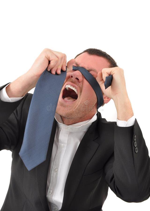 Homme d'affaires dans la crise photographie stock