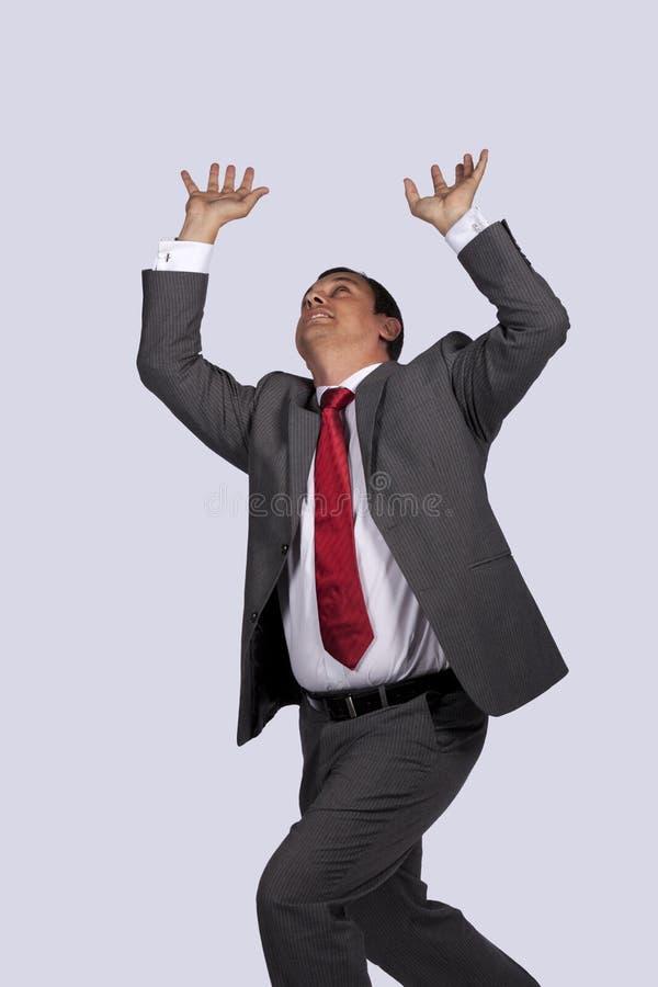 Homme d'affaires dans la panique photos stock