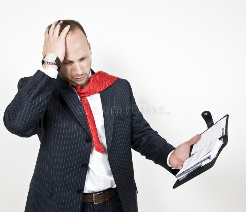 Homme d'affaires dans la tension images libres de droits
