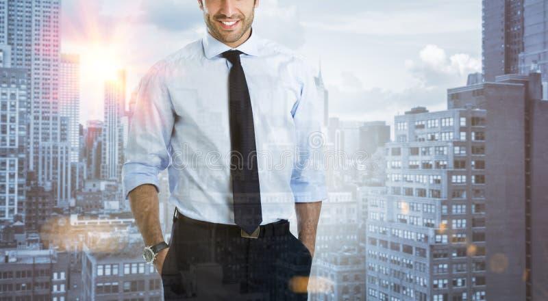 Homme d'affaires dans la ville photos libres de droits