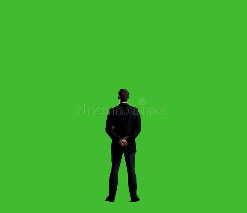 Homme d'affaires dans le costume Affaires et concept de bureau Esprit de fond images stock