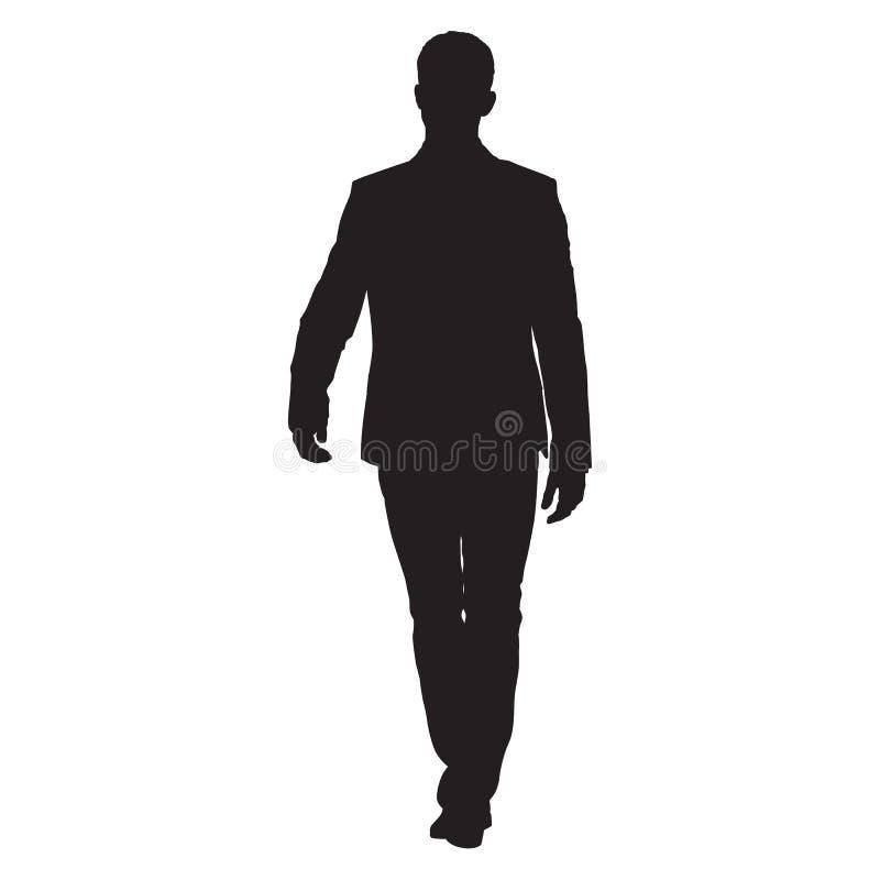 Homme d'affaires dans le costume marchant en avant illustration de vecteur