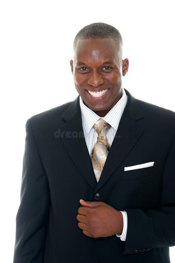Homme d'affaires dans le procès noir 1 images libres de droits