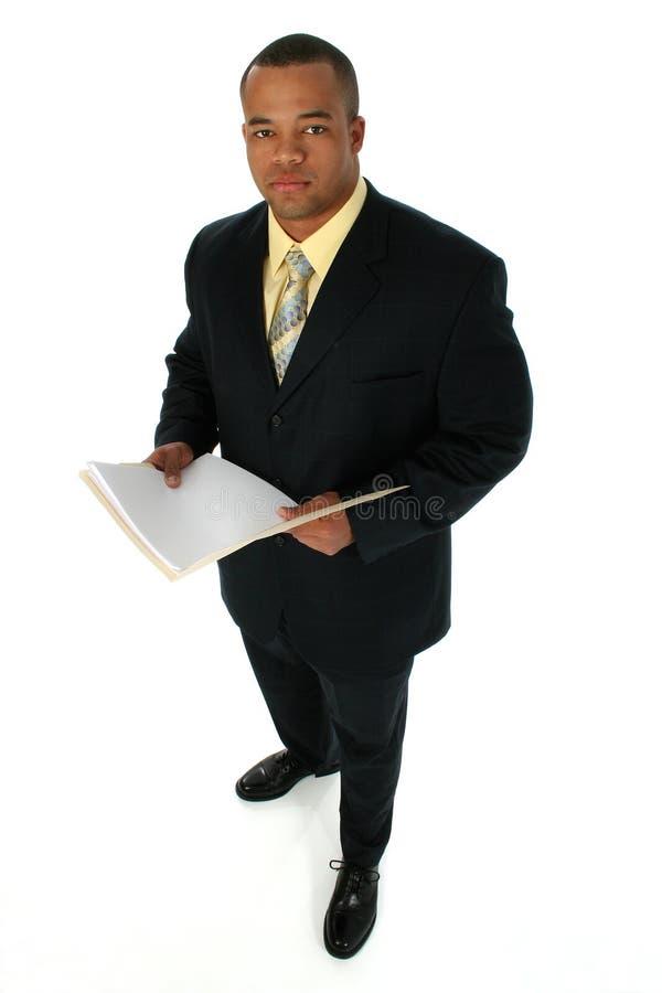 Homme d'affaires dans le procès noir photo libre de droits
