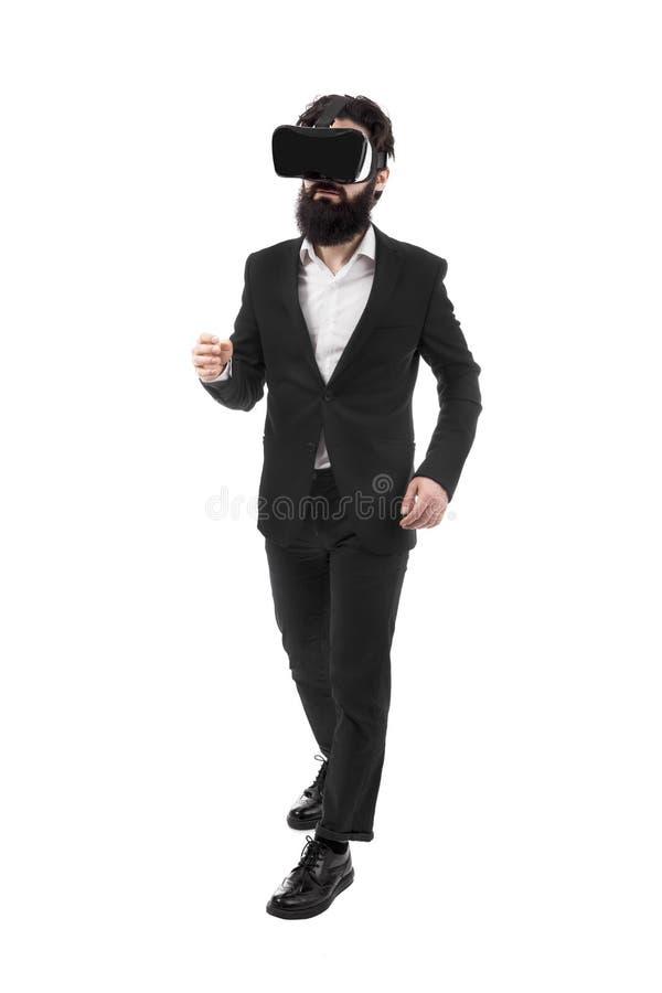 Homme d'affaires dans VR image libre de droits