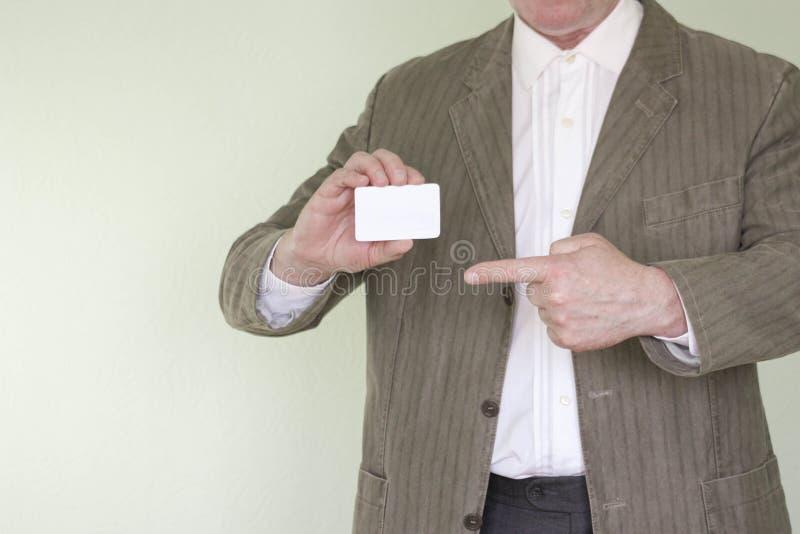 Homme d'affaires de concept d'affaires Carte de visite professionnelle de visite photographie stock