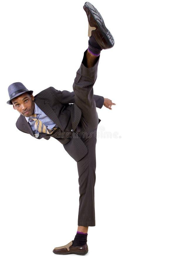 Homme d'affaires de danse images libres de droits