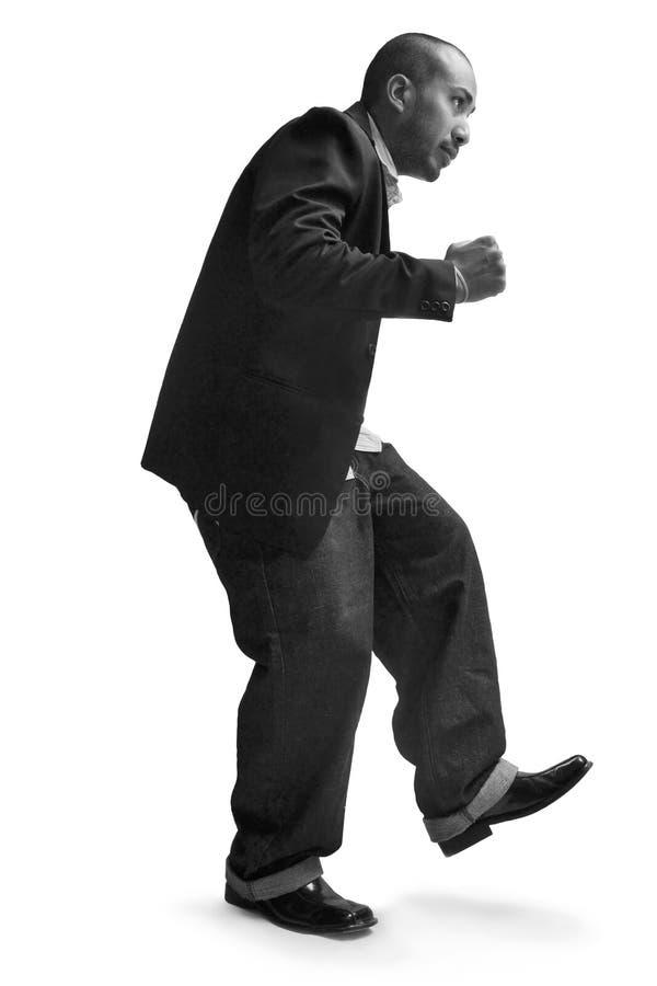 Homme d'affaires de danse photographie stock libre de droits