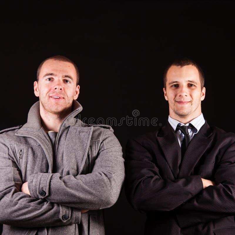 Homme d'affaires de deux jeunes photo stock