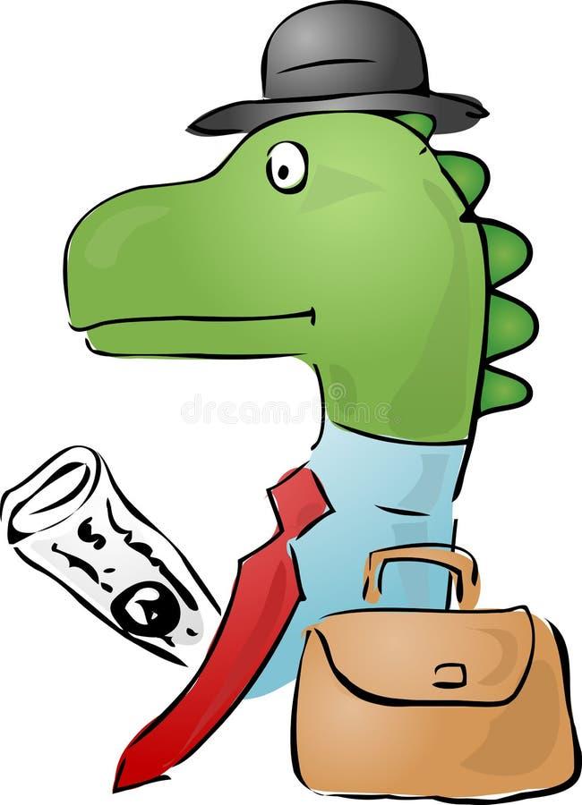 Homme d'affaires de dinosaur illustration stock