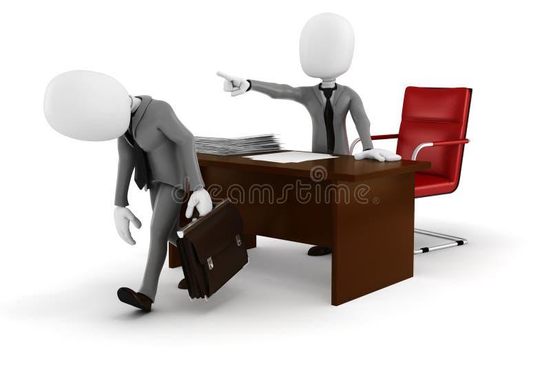 homme d'affaires de l'homme 3d - MIS LE FEU ! illustration libre de droits