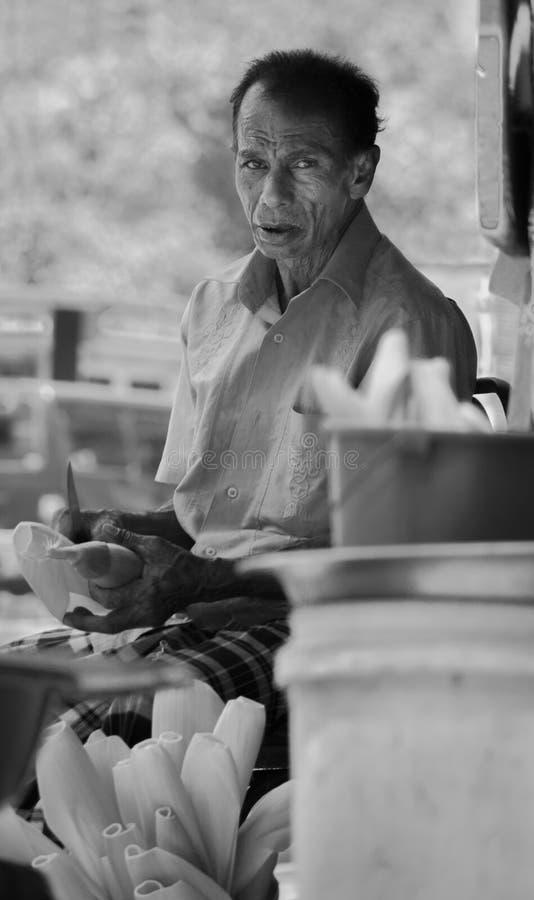 Homme d'affaires de maïs de maïs des zones rurales au Sri Lanka images libres de droits